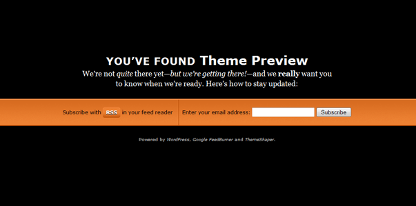 Launch pad WordPress coming soon theme