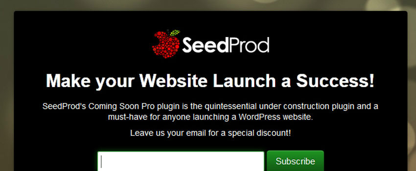 SeedProd coming soon wordpress theme