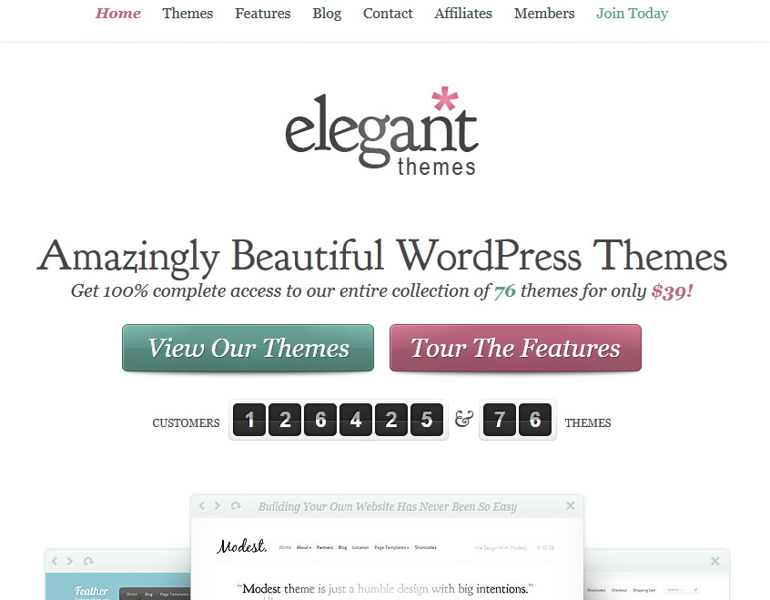 Elegant Themes redesign