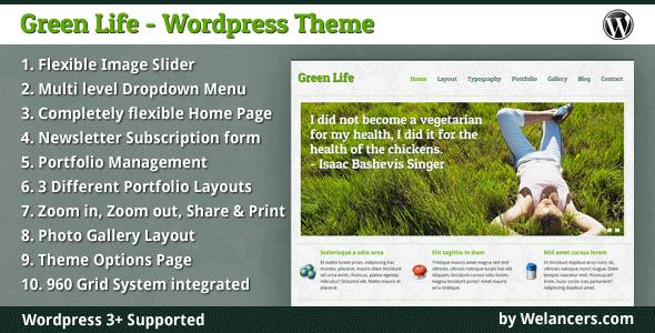 Green life wordpress theme