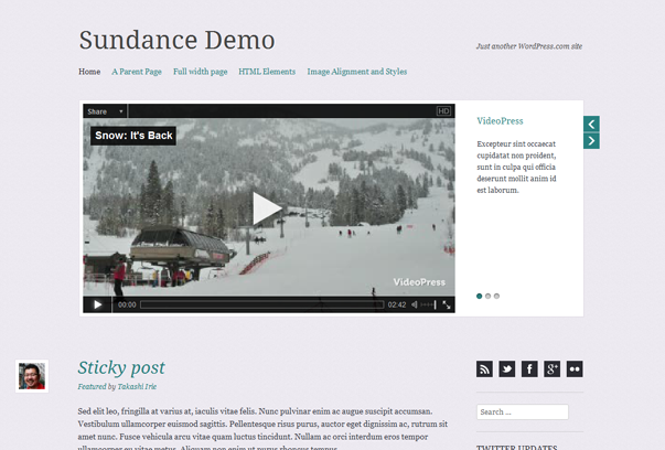 Sundane free theme for wordpress