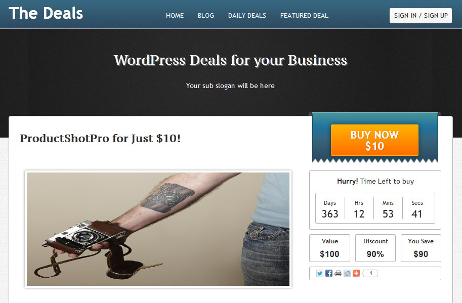 The Deals theme for wordpress