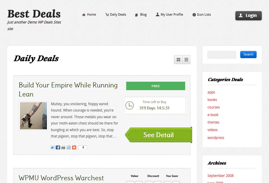 best deals theme for wordpress