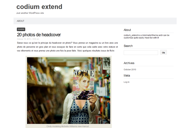codium Extend theme for wordpress