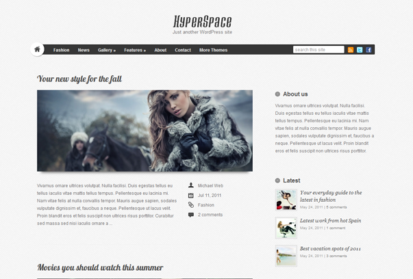 hyper space theme for wordpress