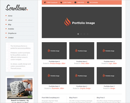 scrollcase theme for wordpress