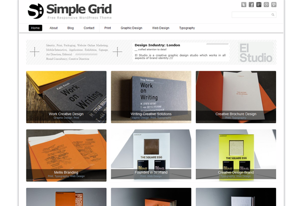simple grid theme for wordpress