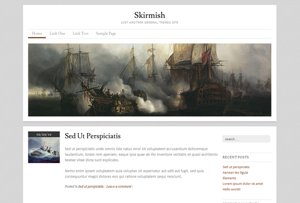 skirmish theme for wordpress