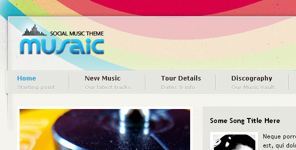 Musaic theme for WordPress