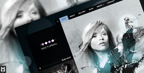 Nocturnal WordPress music theme