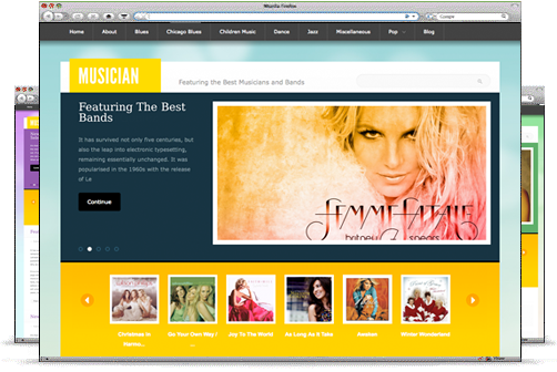 musician theme for wordpress