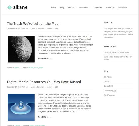 alkane wordpress theme