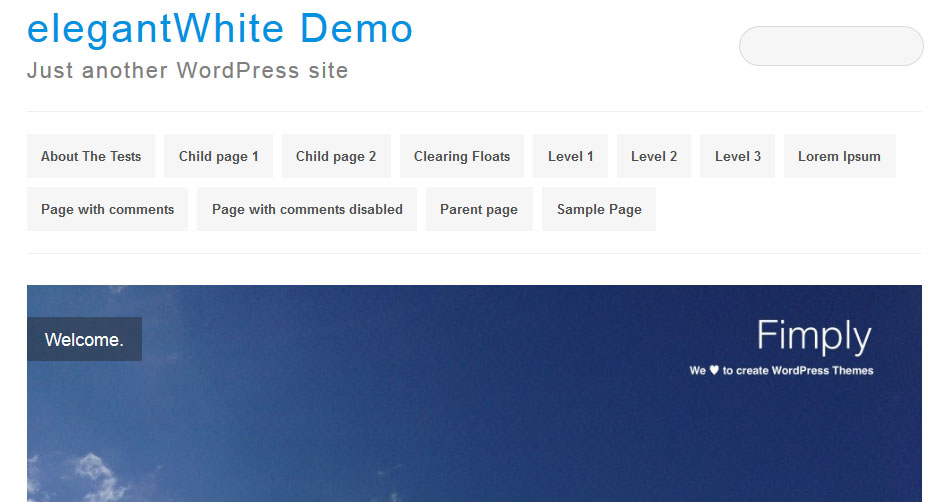 elegantWhite WordPress theme