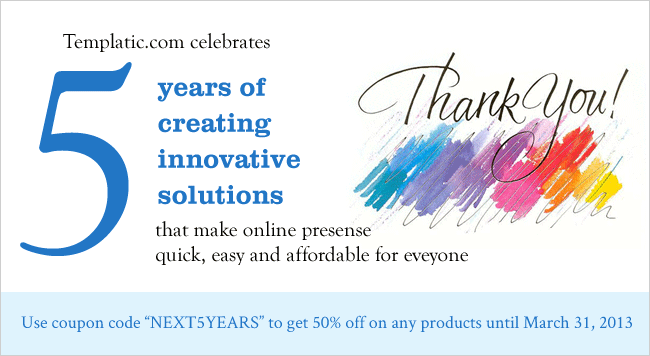 WordPress theme shop Templatic turns five years old