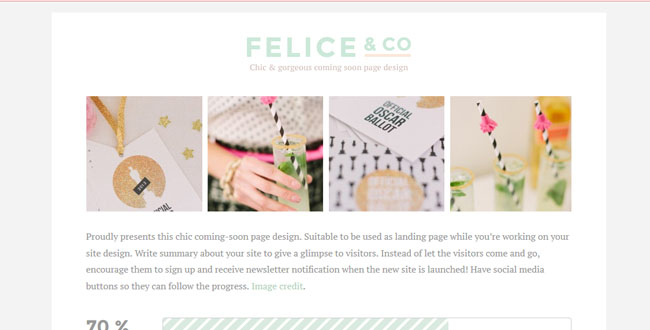 felice under construction theme