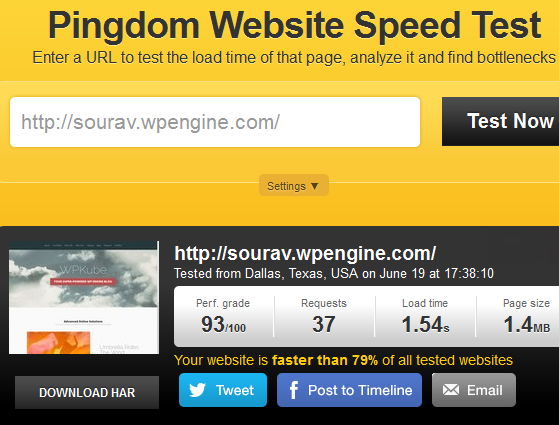 Pingdom - WP Engine Review