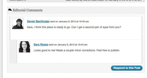 Edit Flow Editor Comments