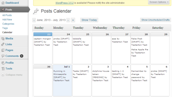 Post Schedule Plugin