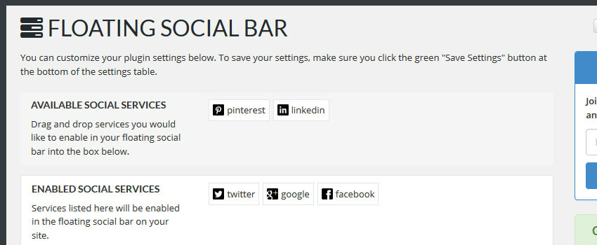 How to Add a Horizontal Floating Social Bar in WordPress
