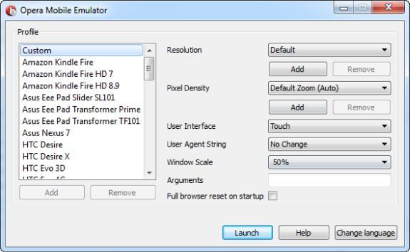 Opera Emulator