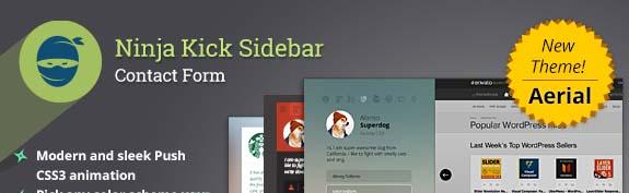 THe Ninja Kick SIdebar WordPress plugin.