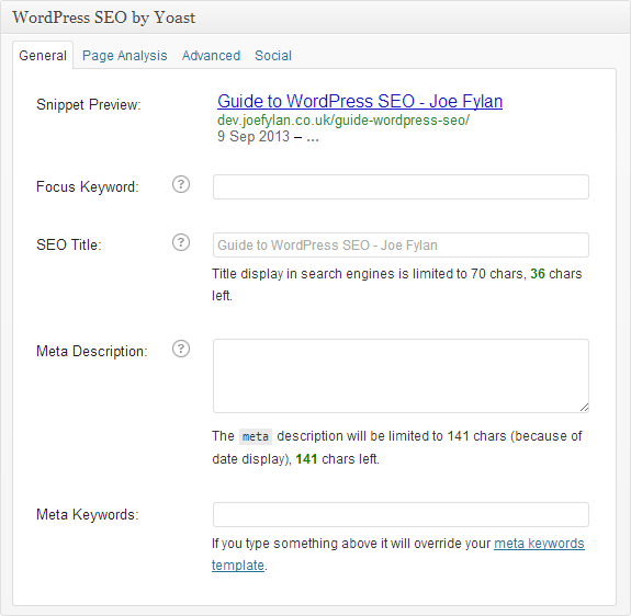 A Detailed Guide on Setting up the WordPress SEO Plugin by Y