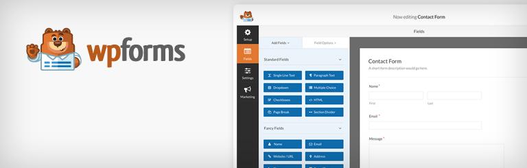 The WPForms WordPress plugin.
