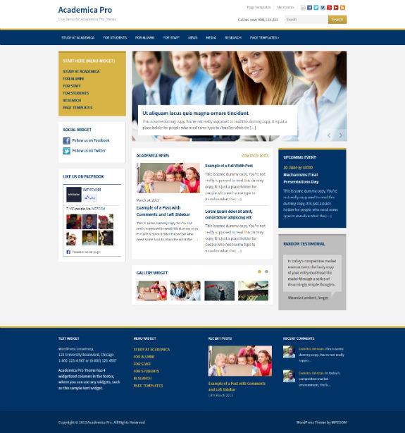 Academica Pro — Education WordPress Theme