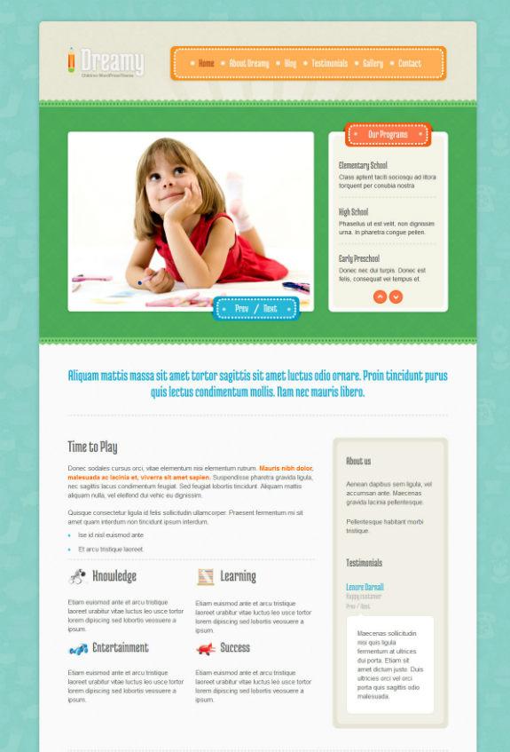 Dreamy WordPress Theme-w575