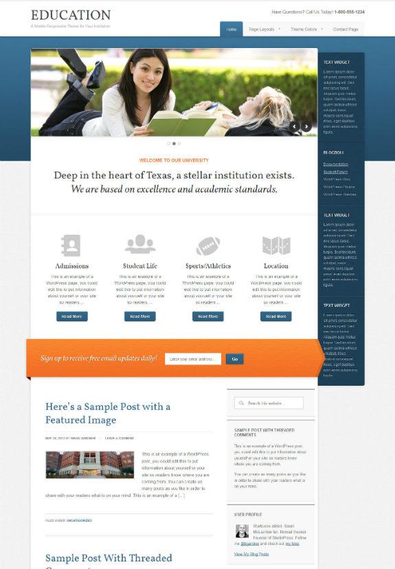Education Theme by StudioPress-w575