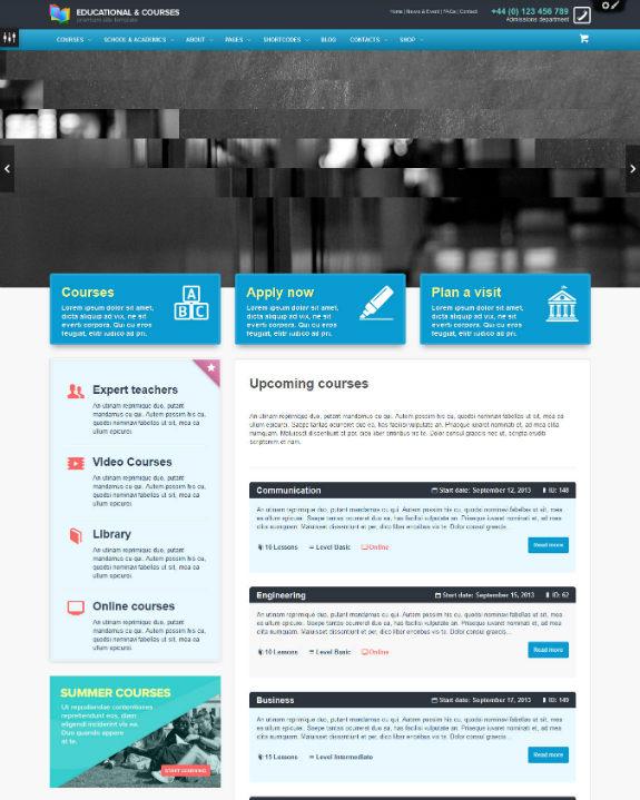 Educational & Courses - Edu WordPress Theme-w575