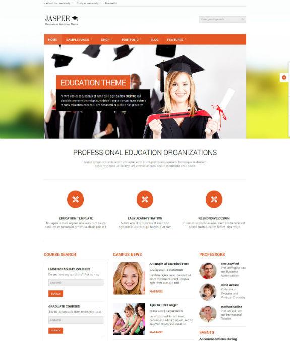 Jasper Education eCommerce Theme-w575
