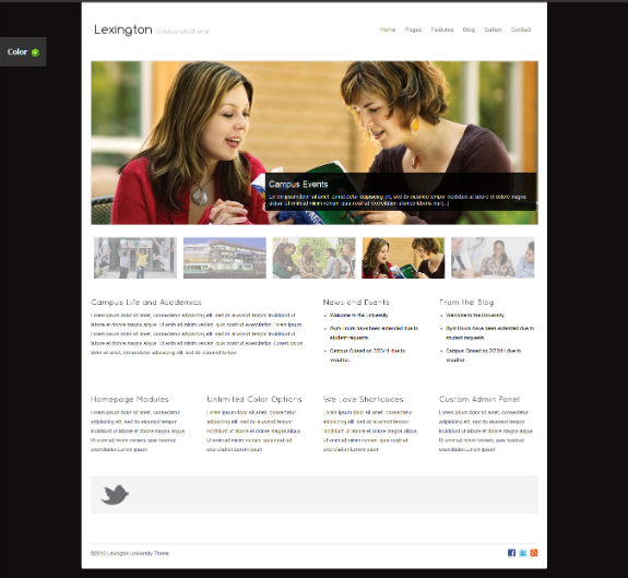 Lexington University Theme - Just another Education WordPress Theme