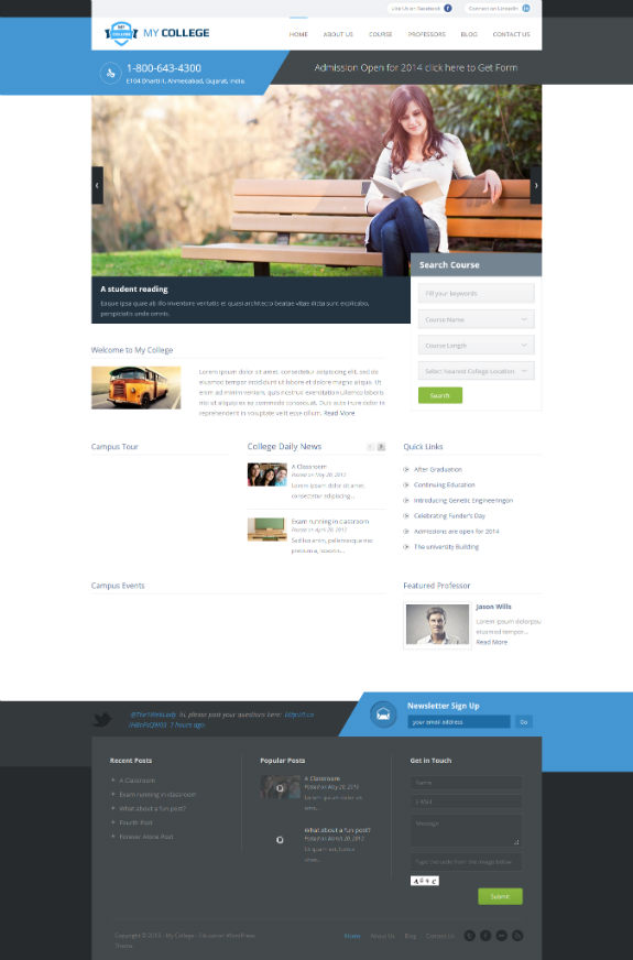 My College - Education WordPress Theme - Not just another WordPress Theme