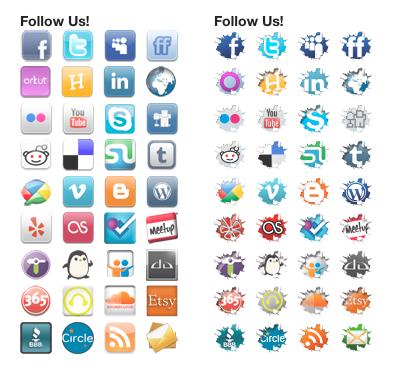 Social Sharing Widget Icons