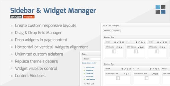 Widgets Sidebar and Widget Manager