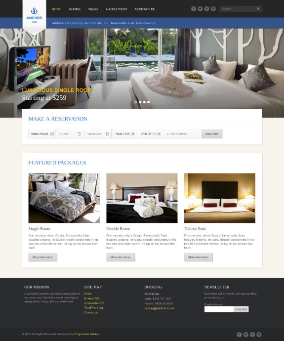 Anchor Inn WordPress Theme