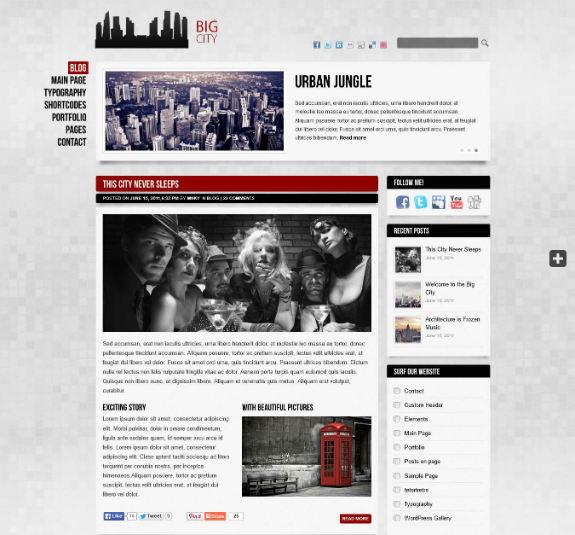 Big City WordPress Theme