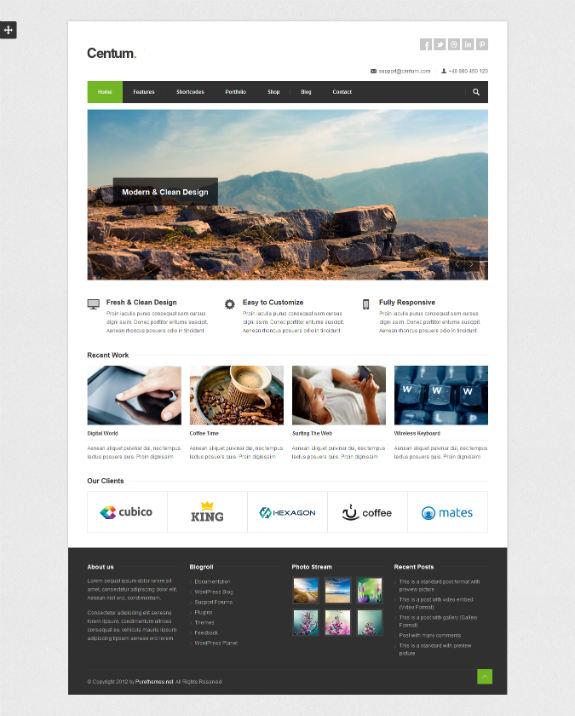 Centum Responsive WordPress Theme