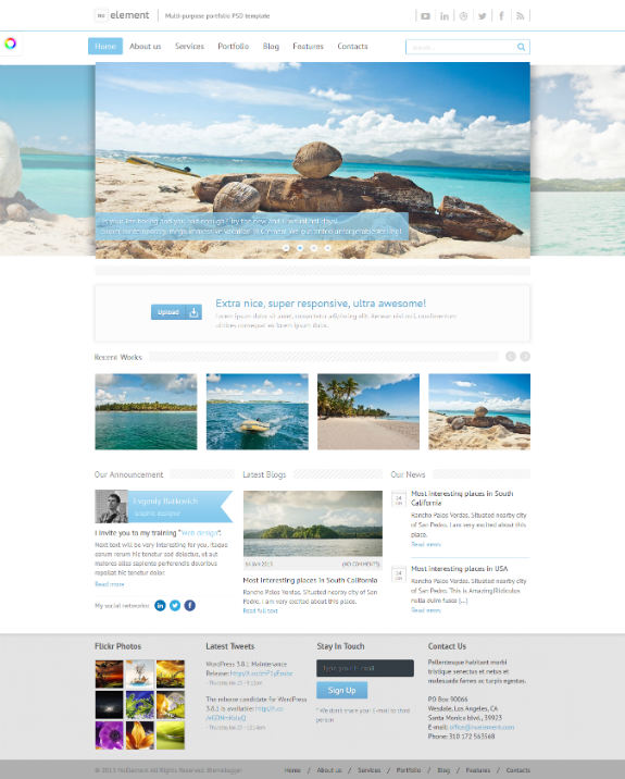 NuElement - Just another WordPress Theme