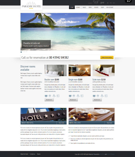 Paradise Hotel Booking - WordPress Theme