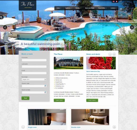 The place WordPress theme
