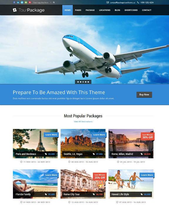Tour Package WordPress Theme