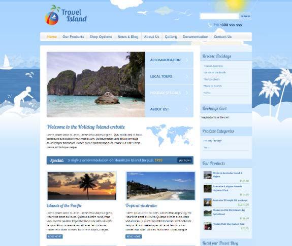 Travel Island WordPress theme