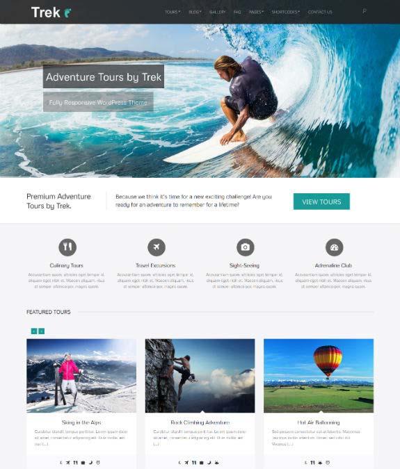 Trek WordPress Theme
