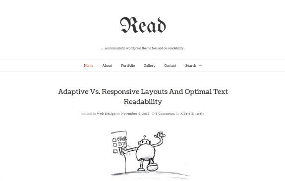 read-wordpress-theme