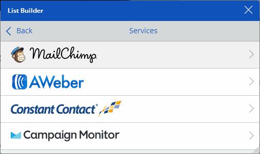 SumoMe List Builder Mailing List