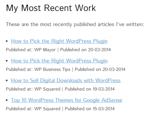 WP RSS Aggregator My Feed
