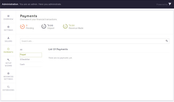 ClassifiedEngine Payments page
