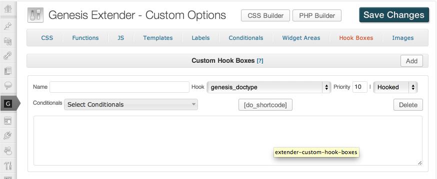 Hook boxes in Genesis Extender Plugin